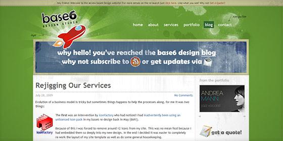 instantShift - Fresh and Inspirational Blog Designs