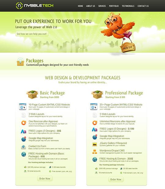 instantShift - Pricing Page Designs