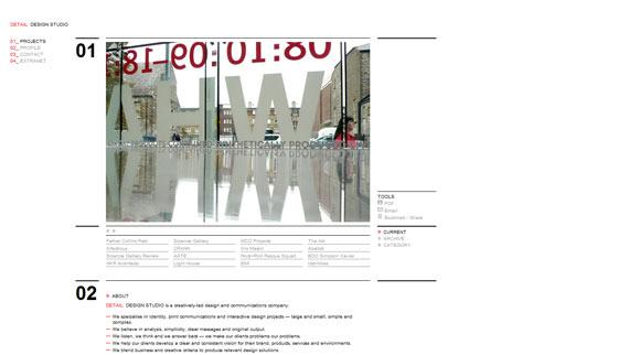 instantShift - Showcase of Super-Clean and Minimal Websites