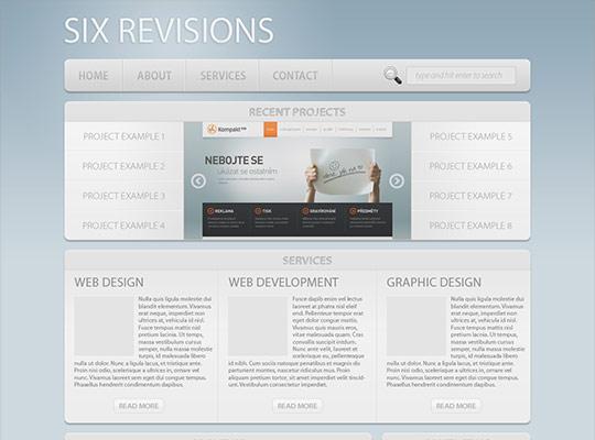 instantShift - Photoshop Web Design Layout Tutorials