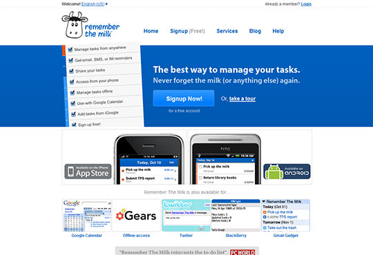instantShift - iPhone Inspired Website Designs