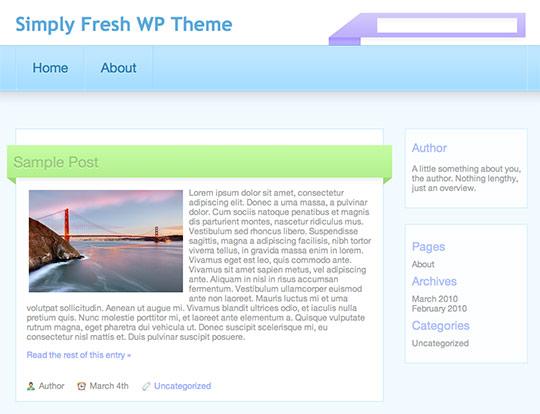 Simply Fresh - A Free WordPress Theme