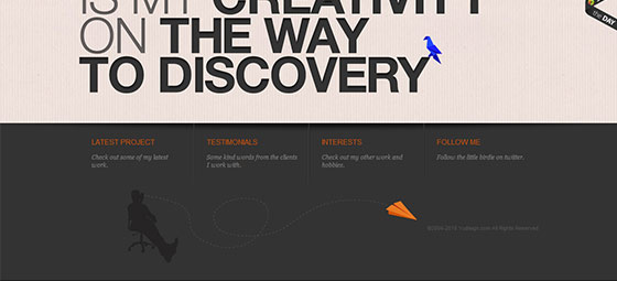 instantShift - Creative Footer Design