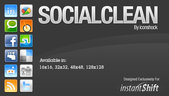 SocialClean - Free Social Network Icons