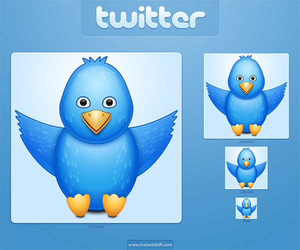 High Quality Free Cute Twitter Icon Set
