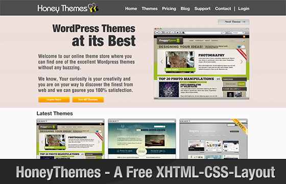 HoneyThemes - A Free XHTML/CSS Layout