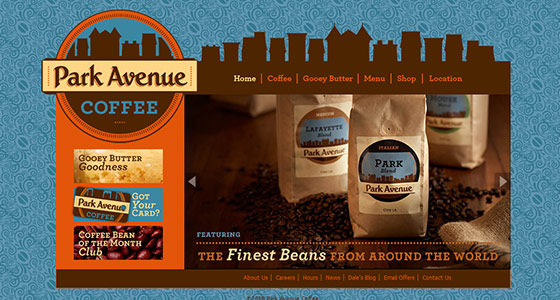 instantShift - Delicious Coffee Website Designs