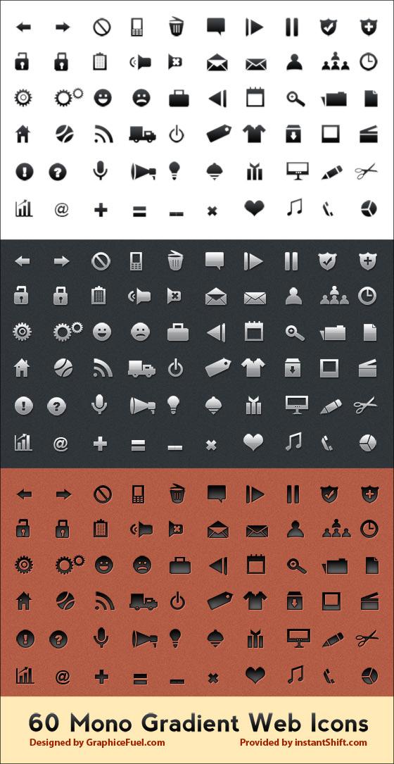 Mono Gradient Web Icons