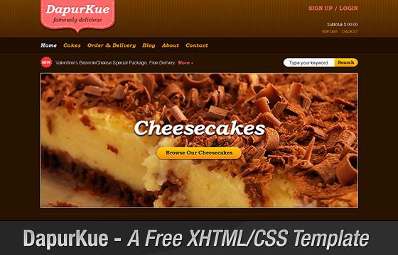 DapurKue - A Free XHTML/CSS E-Commerce Template