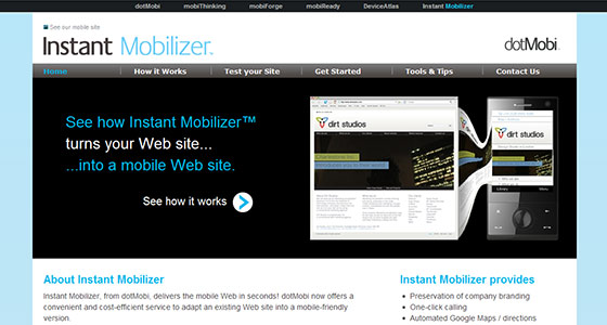 instantShift - How to Create a Mobile Version of Your Website