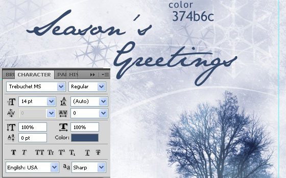 Season's Greetings Card from Scratch to Print