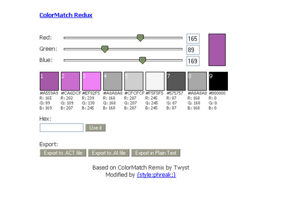 InstantShift - Color Palette and Color Scheme Generators
