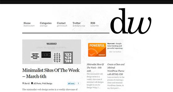 instantShift - Minimalism in Web Design