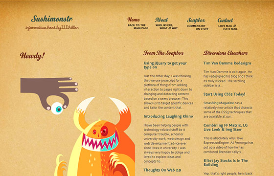 instantShift -  Inspirational HTML5 Web Designs