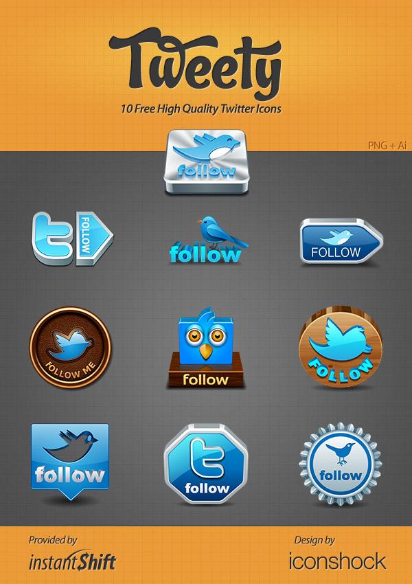 Tweety - High Quality Twitter Icon Set
