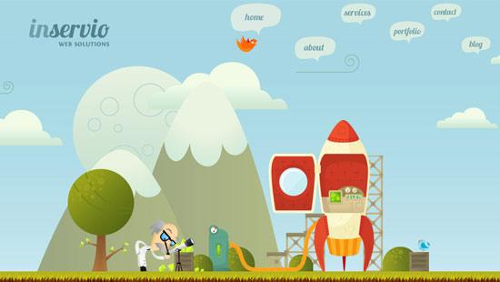 instantShift - Art of Using Illustration in Webdesign