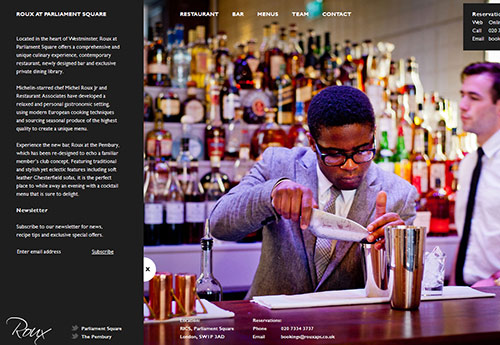 instantShift - Single Page Website Design Inspiration