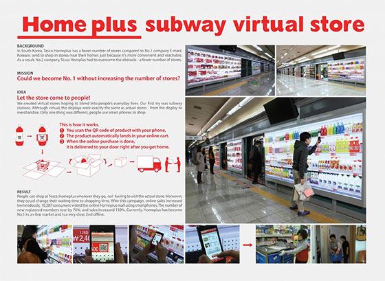 instantShift - Tesco Home Plus subway virtual store