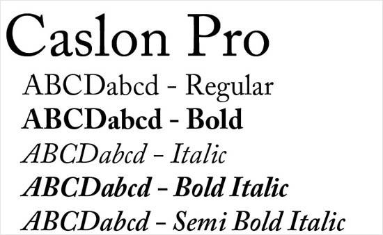 instantShift - Caslon font family