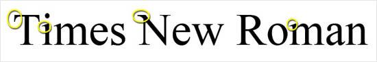 instantShift - Times New Roman font