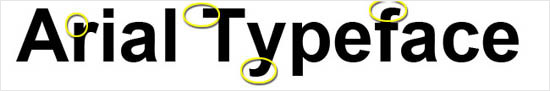 instantShift - Arial font