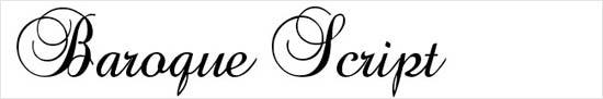 instantShift - Calligraphic Decorative Font - Baroque Script