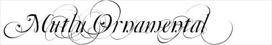 instantShift - Calligraphic Decorative Font - Mutlu Ornamental