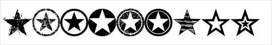 instantShift - Dingbats/Webdings Font - Seeing Stars