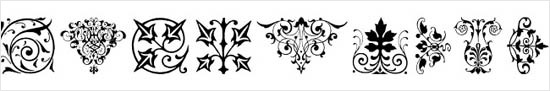instantShift - Dingbats/Webdings Font - Florals