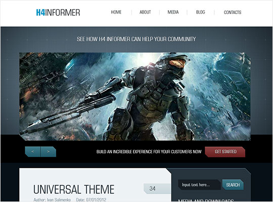 H4-Informer - Free Professional Gaming Template