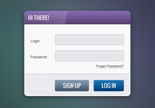 instantShift - Beautiful Free Sign-In and Sign-Up PSD Designs