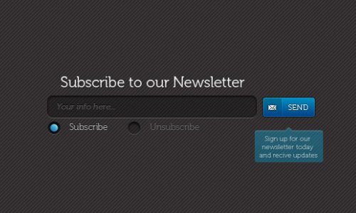 instantShift - Beautiful Free Newsletter Subscribe Box PSD Designs