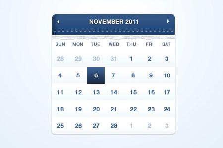 instantShift - Beautiful Free Calendar PSD Designs
