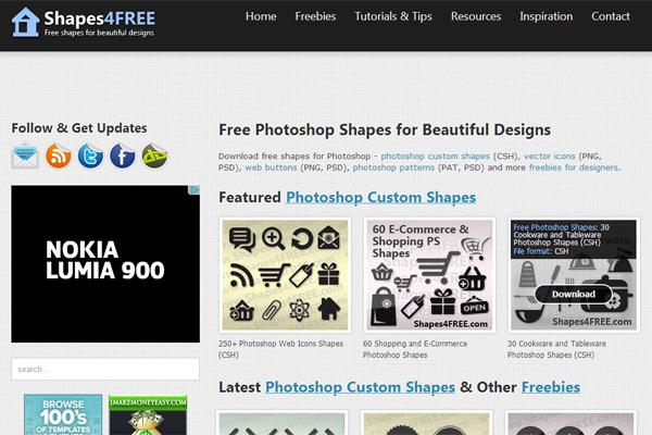 instantShift - Free Photoshop Custom Shapes - Shapes4Free