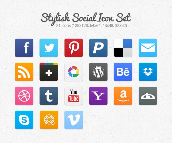 instantShift - Free Social Icons - Stylish Social Icon Set