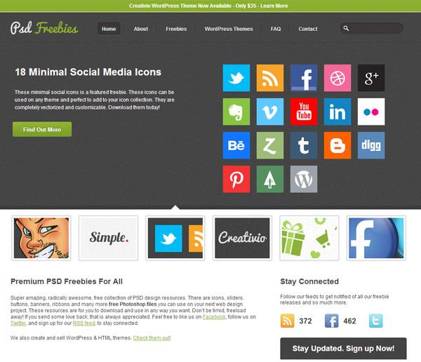 instantShift - Free PSD-files - Best PSD Freebies