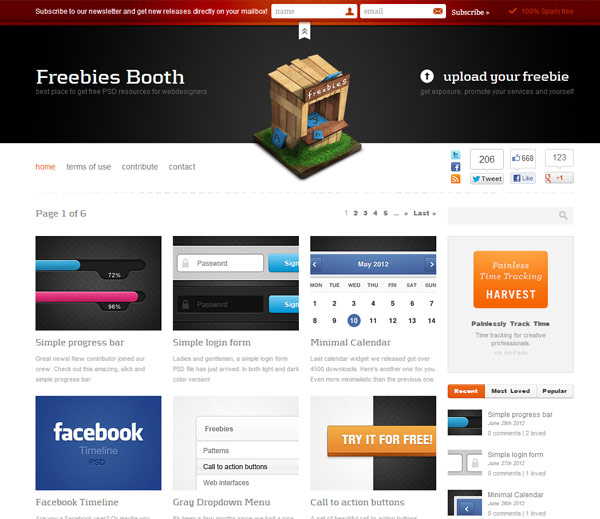 instantShift - Free PSD-files - Freebies Booth