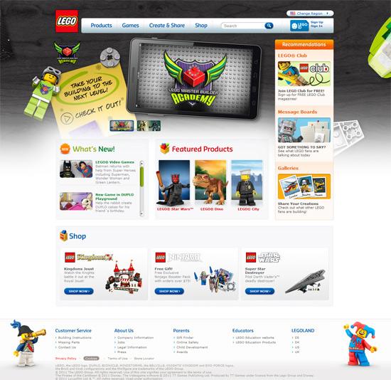 instantShift - Lego.com HomagPage