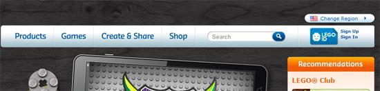 instantShift - Lego.com Navigation