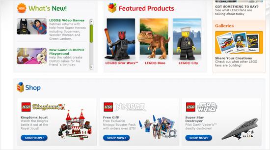 instantShift - Lego.com Hierarchy