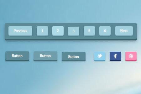 instantShift - Beautiful Free Pagination PSD Designs