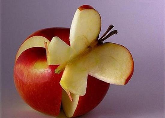 Food Art - Butterfly On Apple