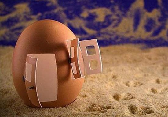 Food Art - Eggshell House