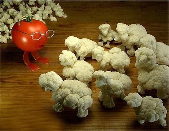 Food Art - Sheep