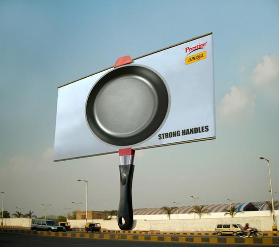 Prestige Omega Cookware: Strong handle billboard