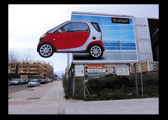 Smart: Corner billboard