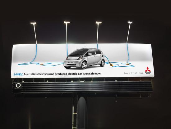 Mitsubishi i-Miev: iMiEV Electric Billboard
