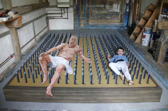 3-D street art Pfizer