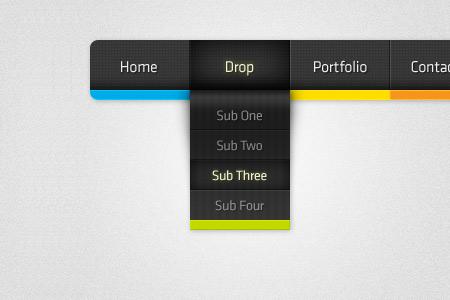 Beautiful Free Dropdown PSD Designs