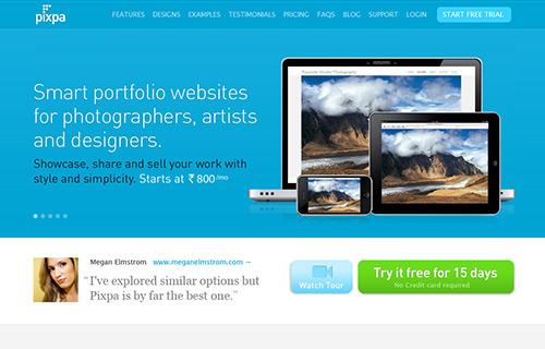 Online Portfolio Creator Tool - Pixpa